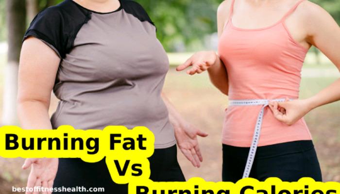 Burning fat vs burning calories